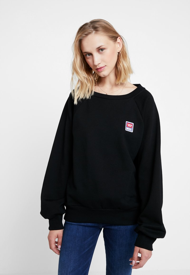 Diesel - F-HENNY-E PULLOVER - Sweatshirts - black