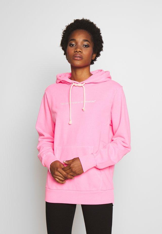 S GIRK HOOD FLUO - Hoodie - pink