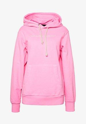 S GIRK HOOD FLUO - Bluza z kapturem - pink