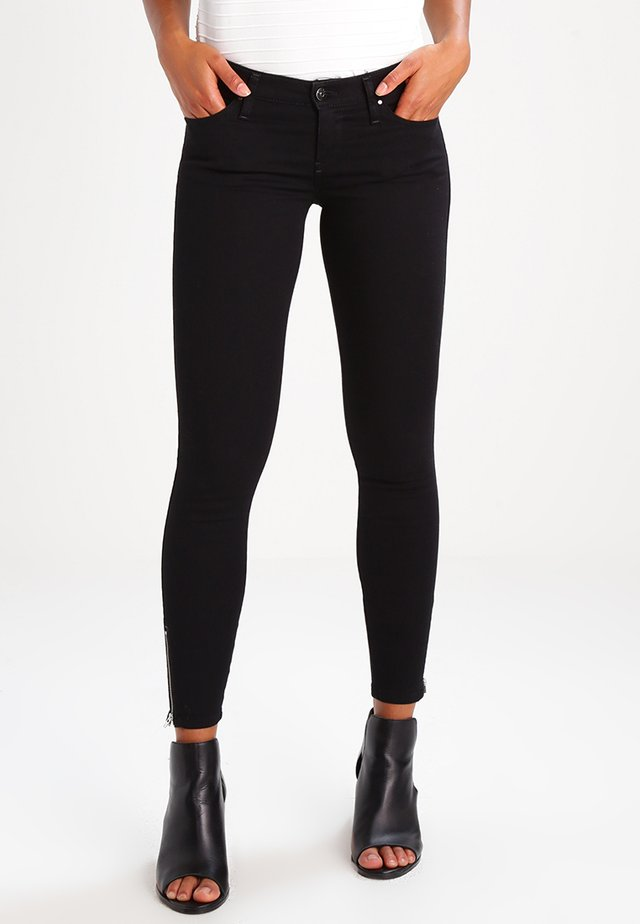 SKINZEE LOW ZIP   - Jeans Skinny Fit - black denim