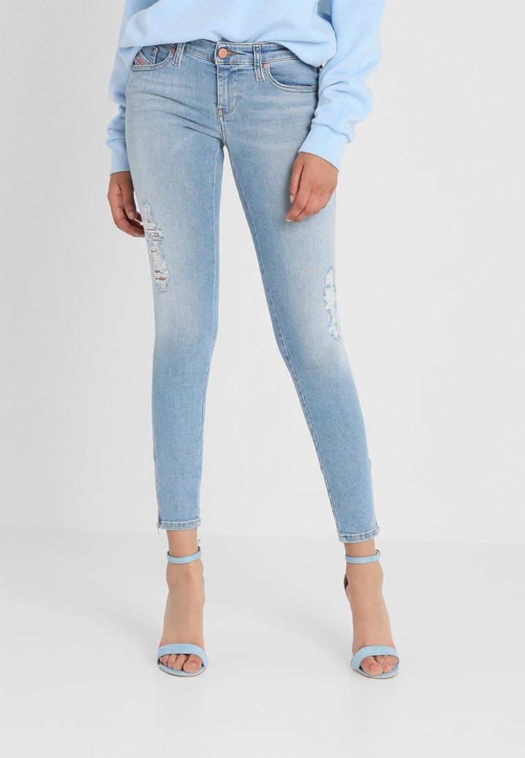 Diesel - SKINZEE LOW ZIP - Jeans Skinny Fit - indigo