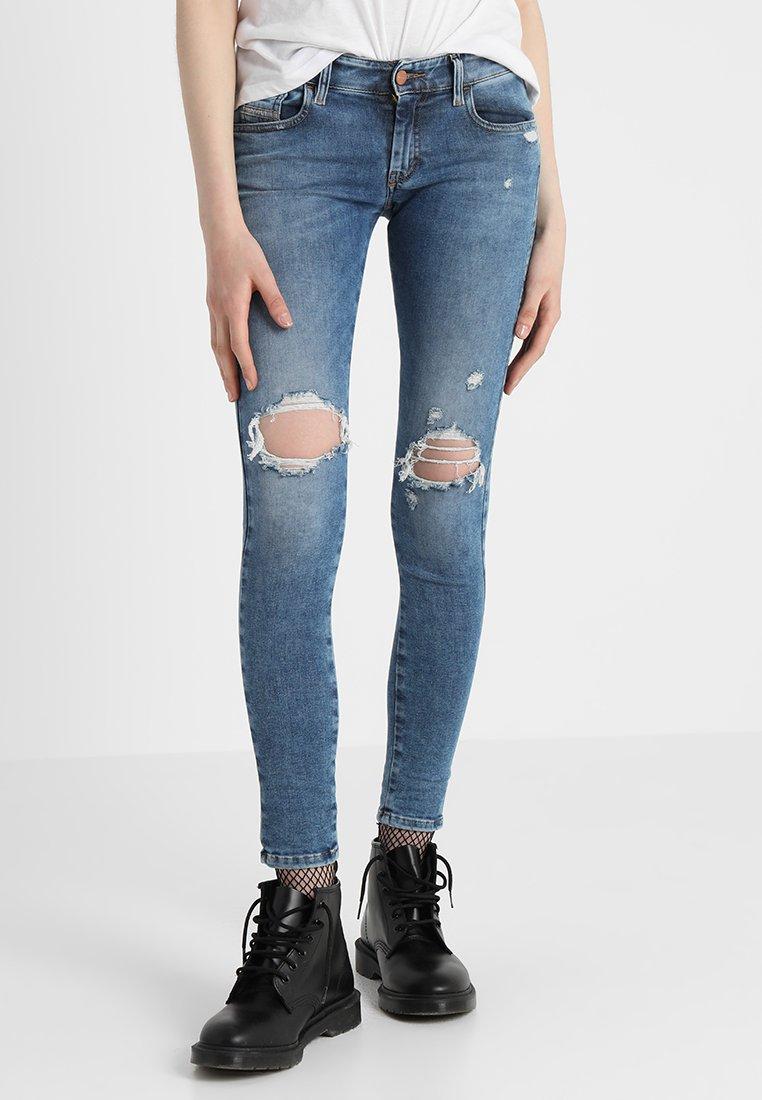 Diesel - SLANDY-LOW - Jeans Skinny - indigo