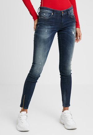 SKINZEE LOW ZIP - Skinny džíny - indigo style exclusive