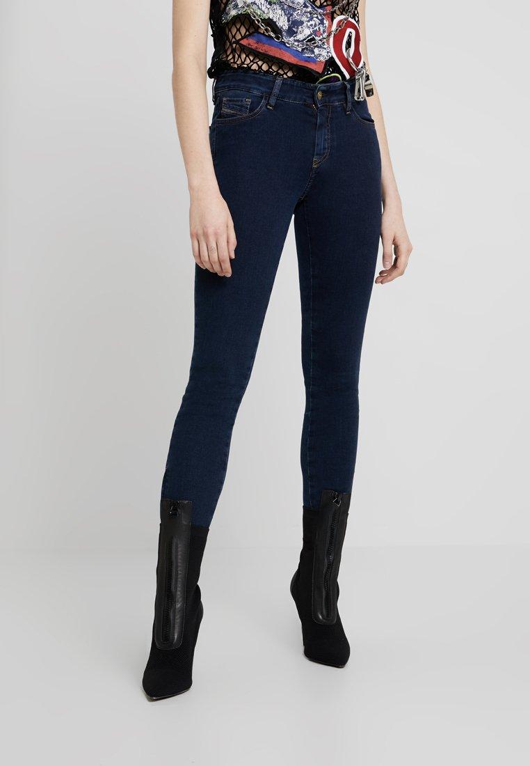 Diesel - SLANDY ZIP - Jeans Skinny Fit - indigo