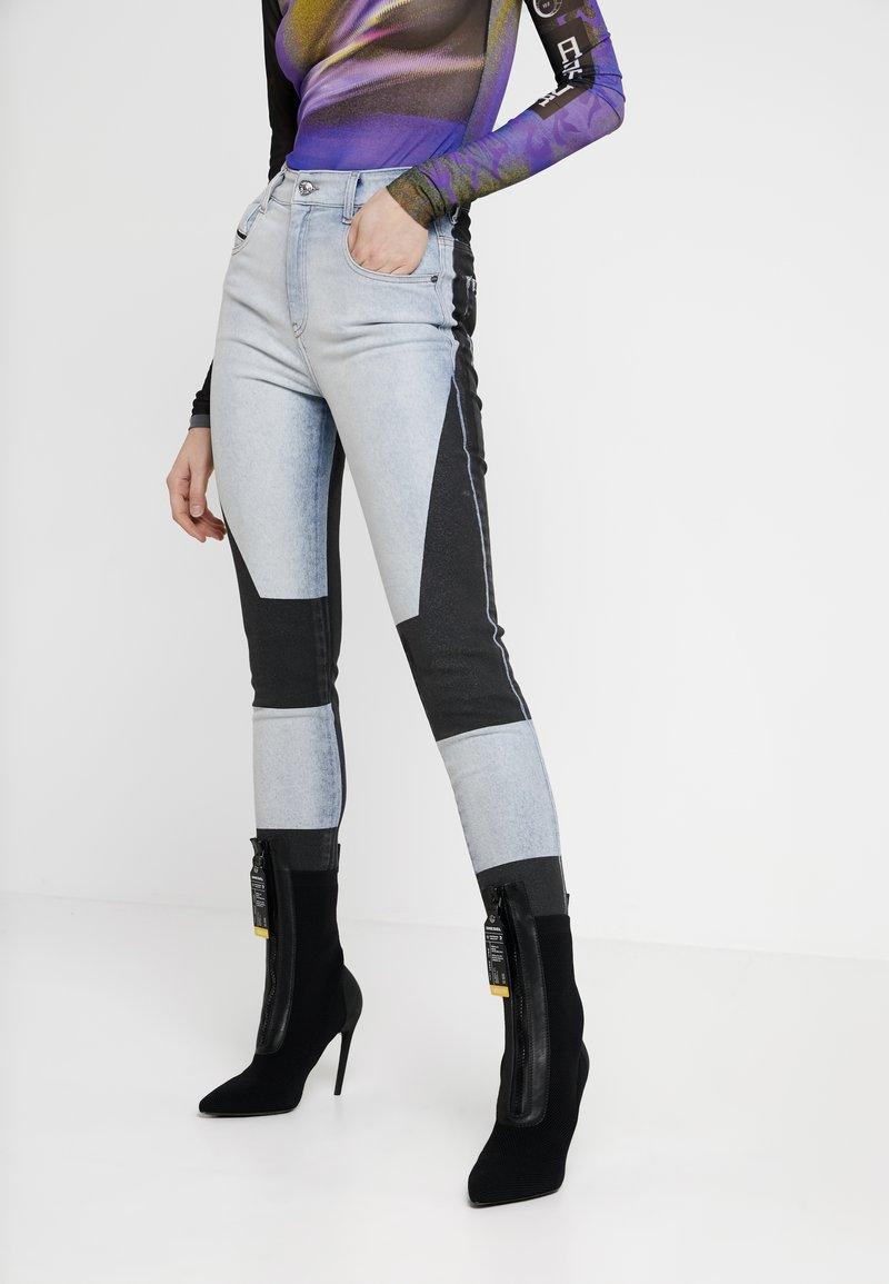Diesel - SLANDY-HIGH-SP - Jeans Skinny Fit - grey/black