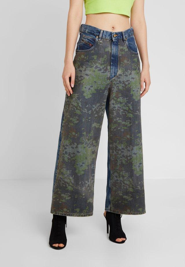 D-LUITE-SP - Flared Jeans - indigo