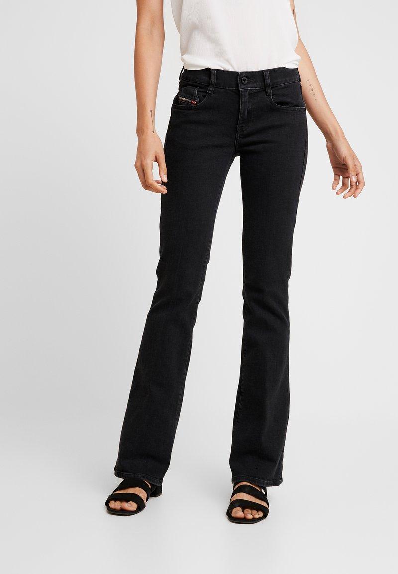 Diesel - D-EBBEY - Bootcut jeans - black