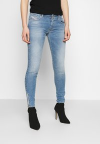 Diesel - SLANDY LOW ZIP - Jeans Skinny - blue denim - 0