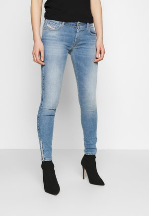 SLANDY LOW ZIP - Skinny džíny - blue denim