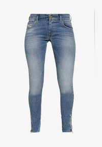 Diesel - SLANDY LOW ZIP - Jeans Skinny - blue denim - 4