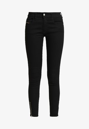 SLANDY LOW ZIP - Skinny džíny - black