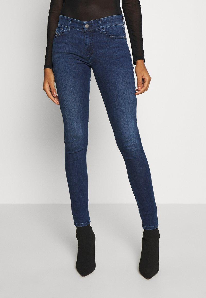 Diesel - SLANDY - Skinny džíny - blue denim