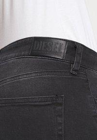 Diesel - SLANDY - Jeans Skinny Fit - washed black - 5
