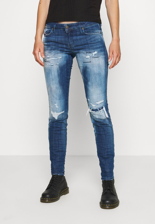 GRACEY-T - Slim fit jeans - destryoed denim