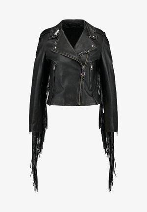 L-HELGAT JACKET - Kožená bunda - black