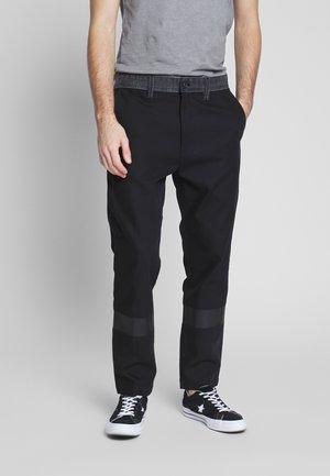 P-KAPP TROUSERS - Spodnie materiałowe - black