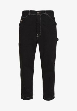 LAMAR TROUSERS - Tapered-Farkut - black
