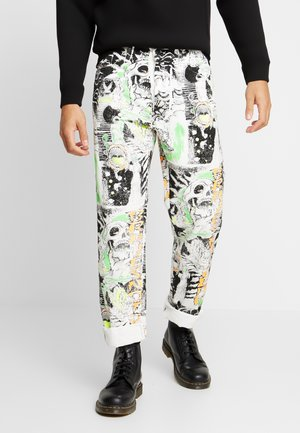 MACS - Jeans a sigaretta - white denim/black denim/multicolor