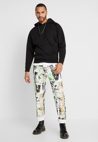 Diesel - MACS - Straight leg jeans - white denim/black denim/multicolor - 1