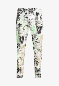 Diesel - MACS - Straight leg jeans - white denim/black denim/multicolor - 4
