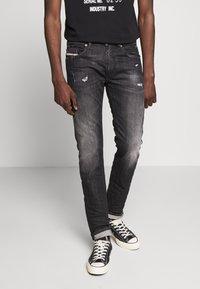 Diesel - THOMMER-X - Slim fit jeans - black denim - 0