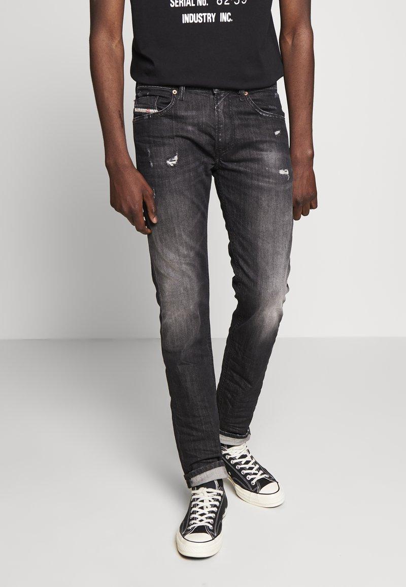 Diesel - THOMMER-X - Slim fit jeans - black denim