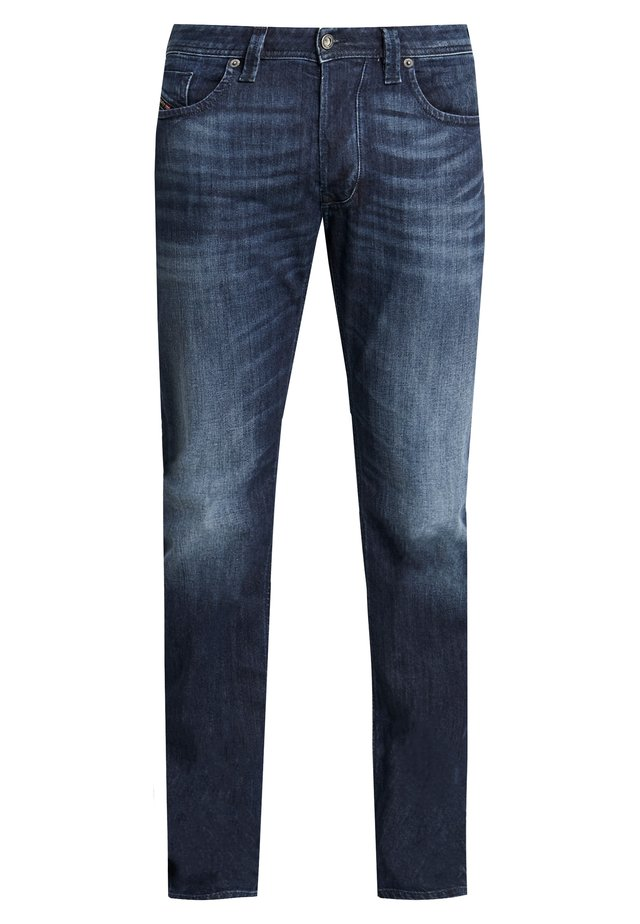 LARKEE - Straight leg jeans - dark blue denim
