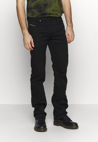 Diesel - LARKEE - Straight leg -farkut - black denim - 0