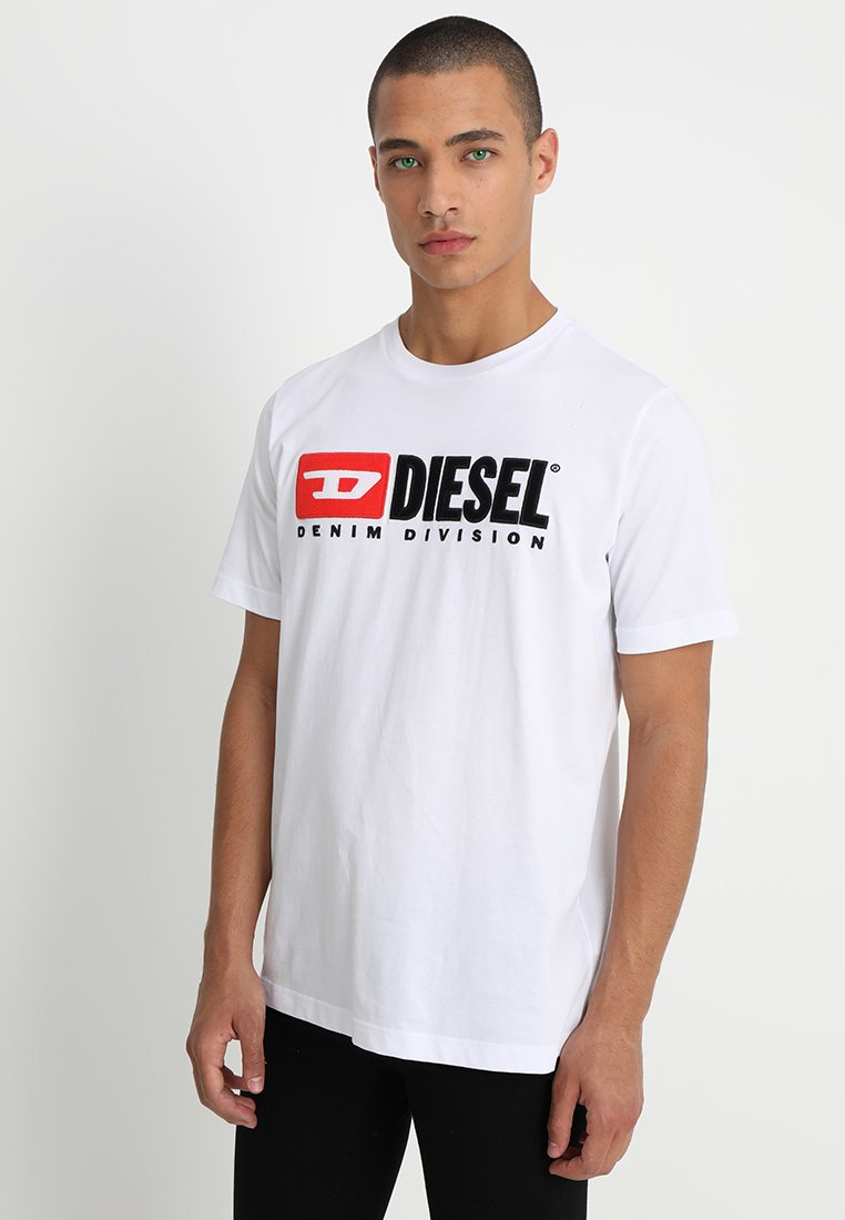 Diesel - T-JUST-DIVISION - T-shirt con stampa - weiss