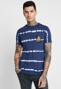 Diesel - BMOWT-PARSEN T-SHIRT - T-shirt print - dark blue - 0