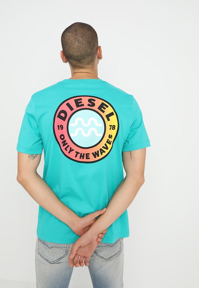Diesel - BMOWT-JUST-B T-SHIRT - T-Shirt print - turqoise