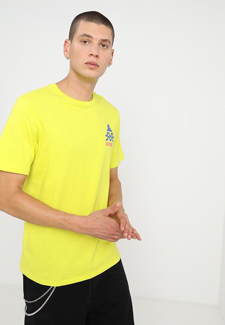 Diesel - BMOWT-JUST-B T-SHIRT - T-Shirt print - yellow