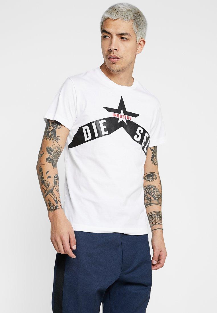 Diesel - T-DIEGO-A7 T-SHIRT - T-shirt con stampa - white