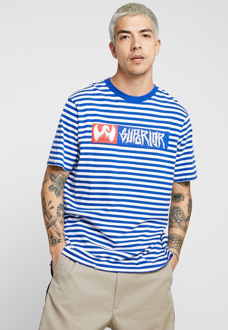 Diesel - T-VIKTOR T-SHIRT - T-shirts print - blue