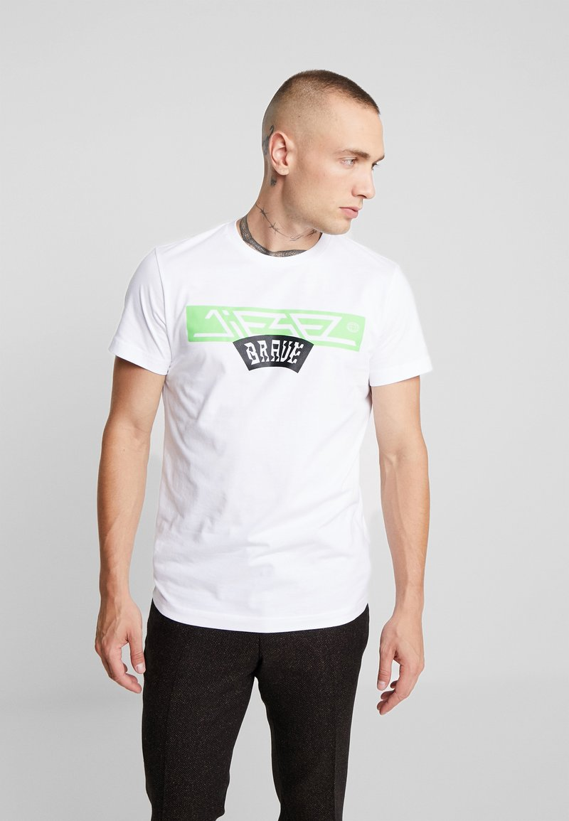 Diesel - T-DIEGO-A1 T-SHIRT - T-shirt med print - white