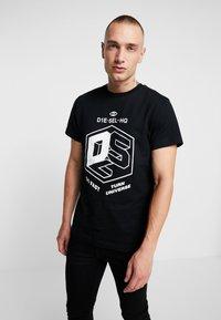 Diesel - T-DIEGO-A3 T-SHIRT - T-shirts med print - black - 0