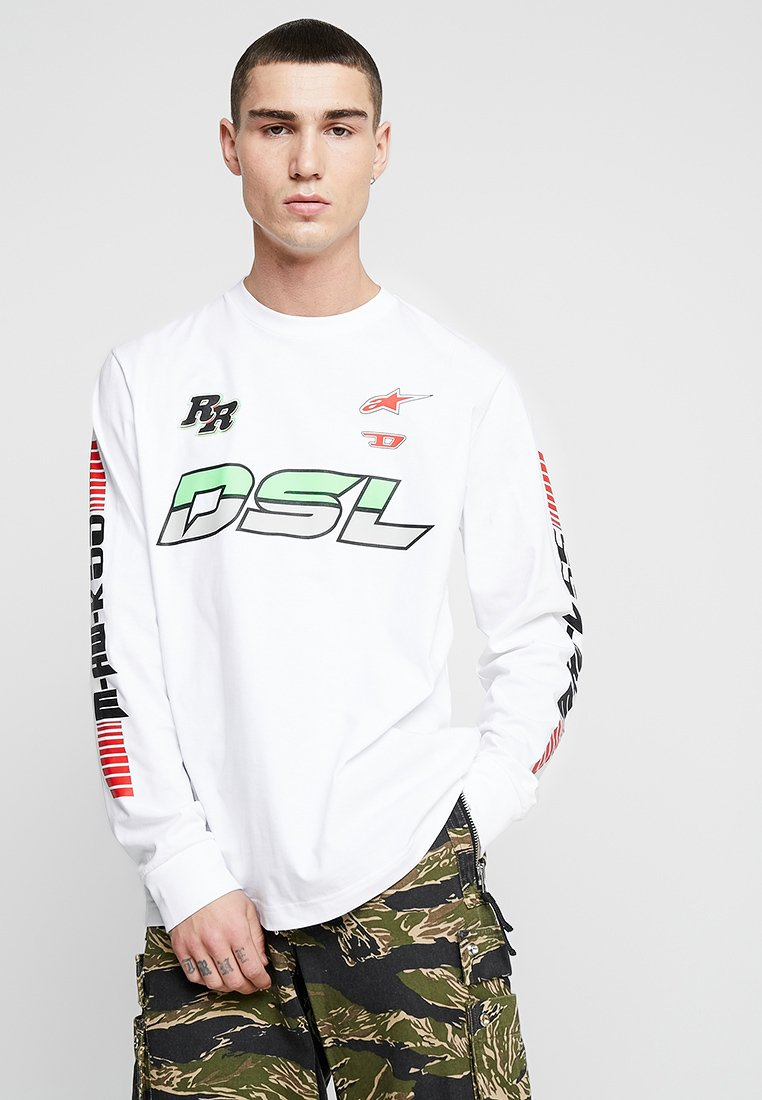 Diesel - ASTARS-T-JUST-LONG T-SHIRT - Langarmshirt - white