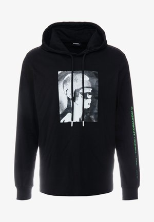 JUST HOOD   - Jersey con capucha - black