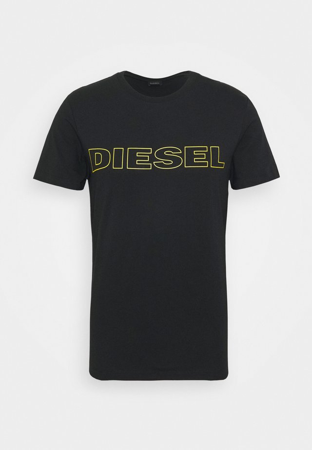 JAKE - T-shirt print - black/yellow