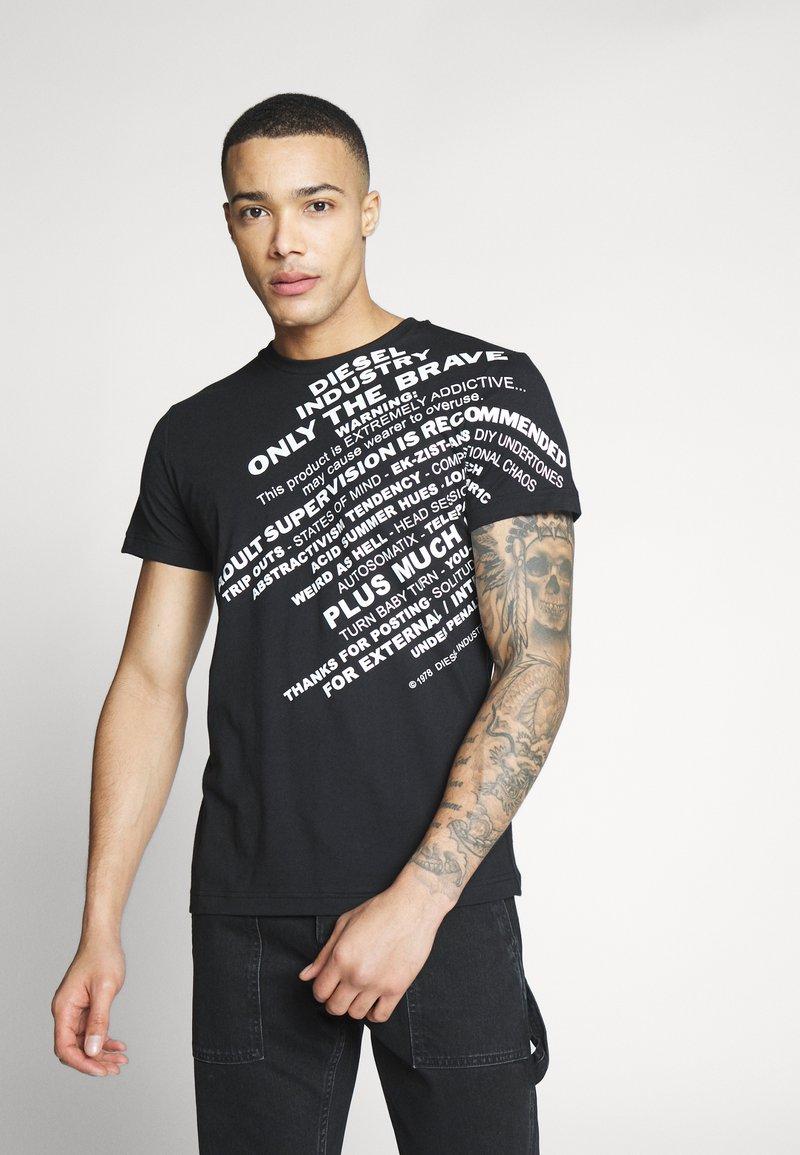 Diesel - T-DIEGO-S3 - T-shirt con stampa - black