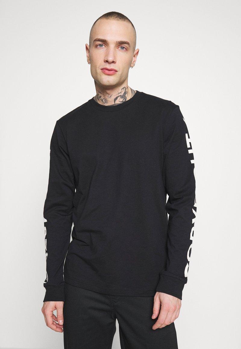 Diesel - Bluzka z długim rękawem - black