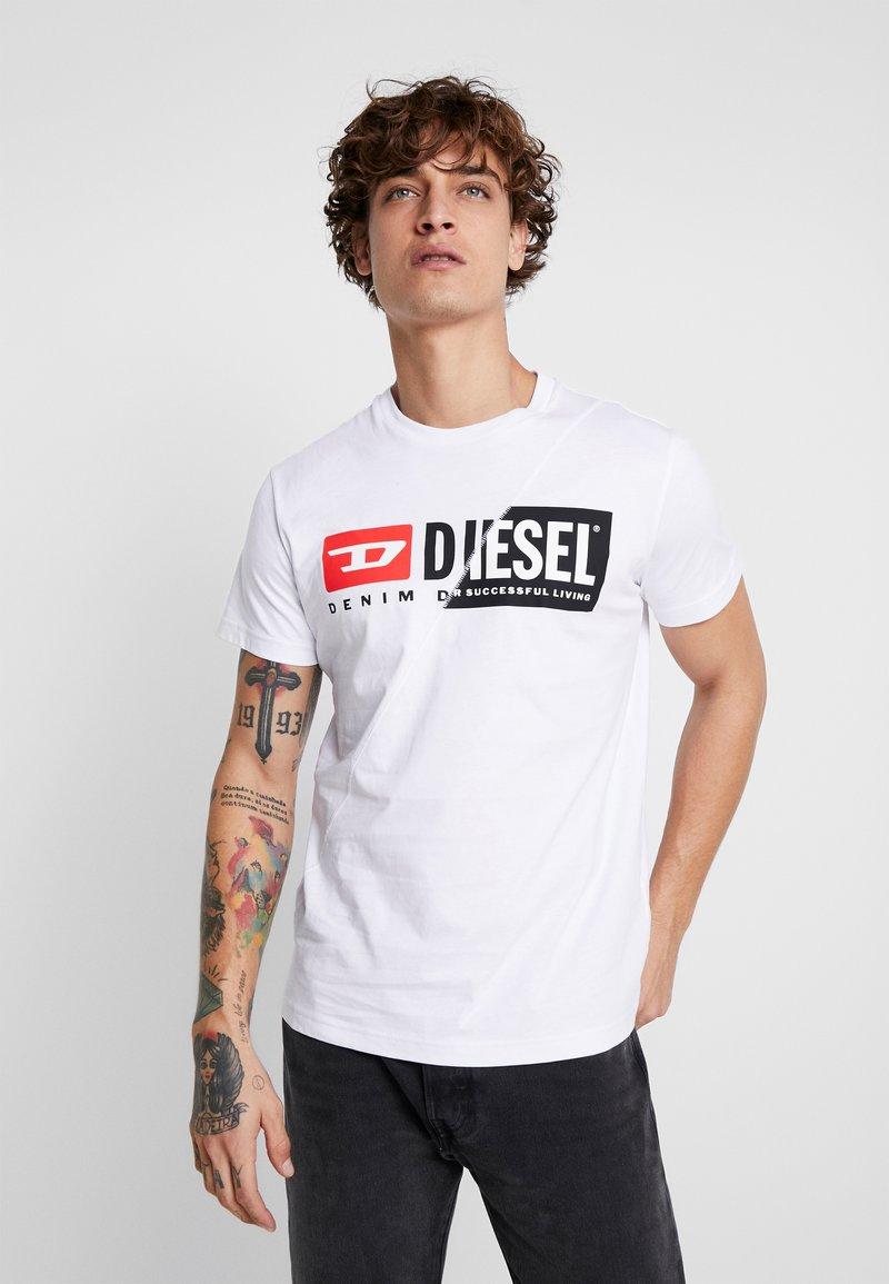 Diesel - T-DIEGO-CUTY - Triko spotiskem - white
