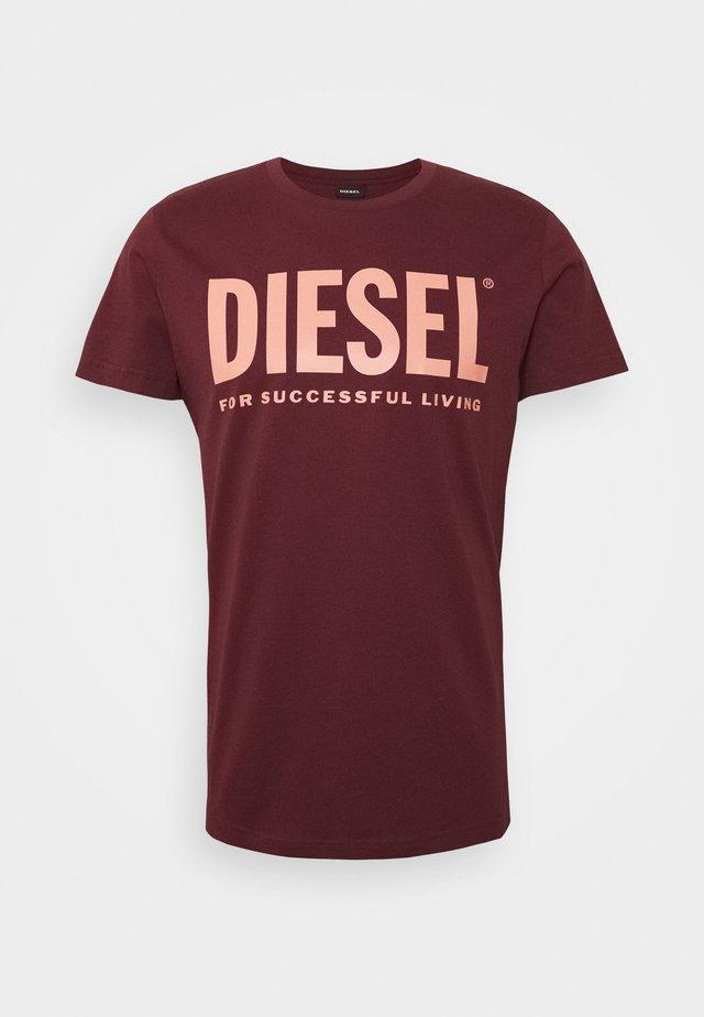 T-DIEGO-LOGO T-SHIRT - Print T-shirt - bordeaux