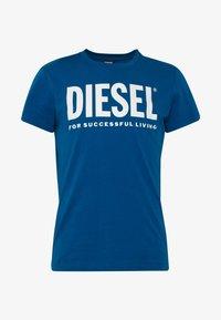 Diesel - T-DIEGO-LOGO T-SHIRT - T-shirt con stampa - blue - 3