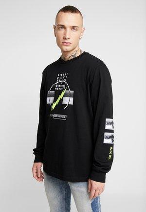 T-JUST-LS-J3 PULLOVER - Pitkähihainen paita - black