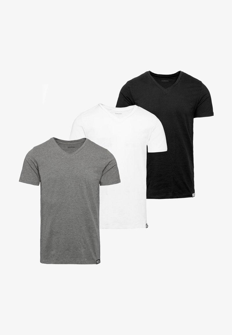 Diesel - 3 PACK - T-shirt basique - black-white-grey