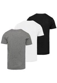 Diesel - 3 PACK - T-shirt basique - black-white-grey - 1