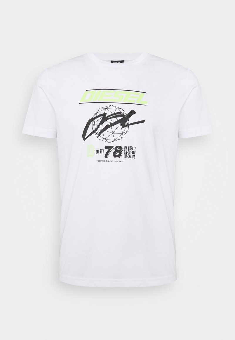 Diesel - T-DIEGOS-K34  - T-shirt con stampa - white