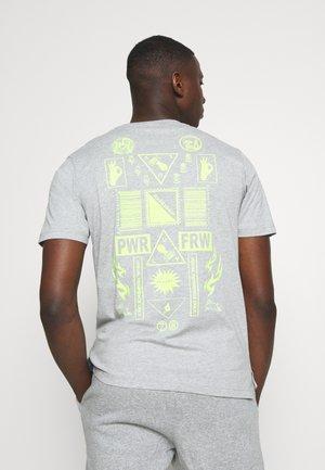 T-JUST-SLITS-X84 T-SHIRT - T-shirt con stampa - grey melange