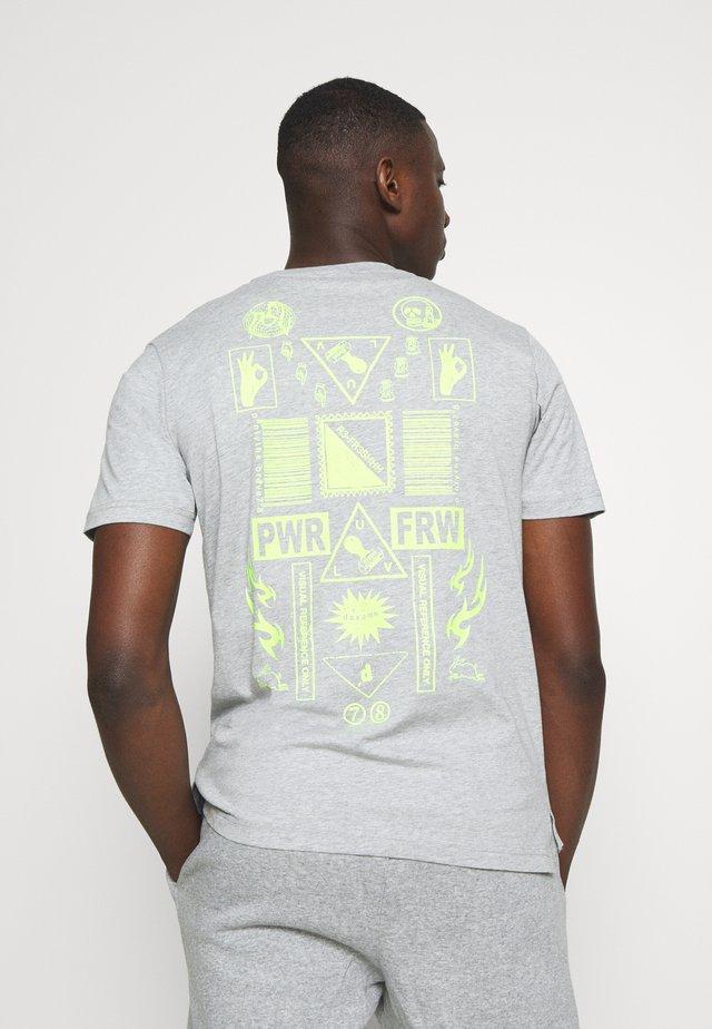 T-JUST-SLITS-X84 T-SHIRT - T-shirt print - grey melange